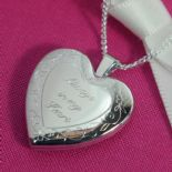 Memorial Silver Heart Locket, personalised ref. SHML